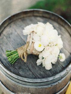 All White Rustic BridalBouquet
