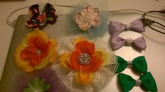 Flower Hair Clips by MamatwixBowtic on Etsy