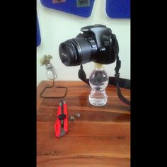 Mini monopod made with bottle #DIY #Recycling
