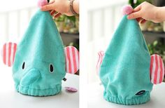 Helen Ou@ Cute Adult Shower Cap South Korean Hair- Drying Cap Super Absorbent Bamboo Fiber Sleeping Cap for Female Long Hair or Children Hair- Drying Hat -- You can get additional details at the image link. Elephant Towel, Cute Elephant, Shower Cap, Bucket Bag, Hair Care, Kawaii, Long Hair Styles, Female, Hair Dryer