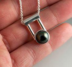 Tahitian Black Pearl in Sterling Silver by JenLawlerDesigns, $325.00