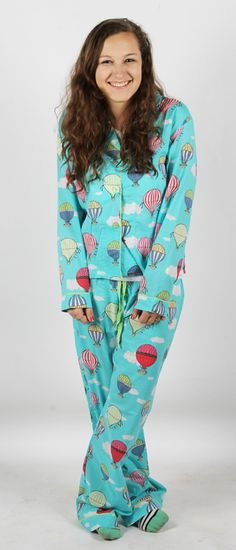 """Hot Air Balloons"" PJ Salvage Pajamas - SHOP http://www.thepajamacompany.com/store/pj-salvage"