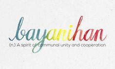 """""""Bayanihan"""" 