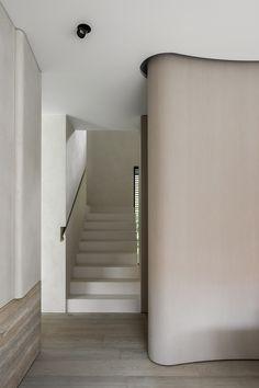 Residence DVB Knokke, Knokke-Heist, Belgium - The Cool Hunter Journal Seaside Resort, Vestibule, Lush Garden, Entrance Hall, Minimalism, Stairs, Flooring, Interior Design, Architecture