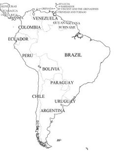 Can use for cycle 2 as well for the older children who want to learn more about the continent---CC Cycle 1 Week 23 & 24 South America outline maps Teaching Maps, Teaching Geography, Teaching Spanish, 6th Grade Social Studies, Teaching Social Studies, Free Printable World Map, Printable Maps, Printables, World Geography Map