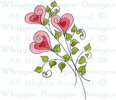 Love Bouquet - Whimsical - Floral/Garden - Rubber Stamps - Shop