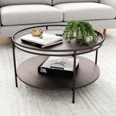 Round Wood Coffee Table, Coffee Table With Shelf, Black Coffee Tables, Coffee Table Styling, Small Coffee Table, Cool Coffee Tables, Coffe Table, Decorating Coffee Tables, Modern Coffee Tables