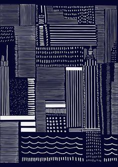 Bangkok Flood, Que Design Store Textiles, Textile Patterns, Textile Prints, Color Patterns, Print Patterns, Graphic Prints, Poster Prints, Art Prints, Black And White Quilts