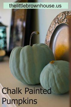 My Annie Sloan Chalk Painted Pumpkins ;-)