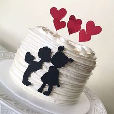 Orange cake without flour - HQ Recipes Anniversary Cake Designs, Happy Anniversary Cakes, Cake Icing, Fondant Cakes, Cake Topper Tutorial, Cake Toppers, Heart Cakes, Valentines Day Cakes, Engagement Cakes