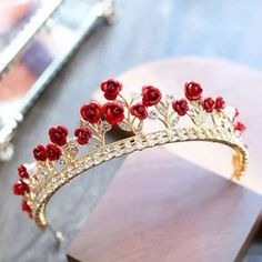 Details about Red Crystal Crown Tiara Bridal Rhinestone Headband Princess Wedding Birthday - Jewelry & Accessories - Wedding Hairstyles Rhinestone Headband, Crown Headband, Crystal Rhinestone, Hair Crown, Crystal Headband, Cute Jewelry, Hair Jewelry, Bridal Jewelry, Bridal Crown