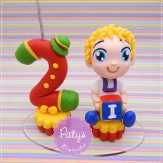 Mini Topinho com vela Patati Patatá - Festa Infantil - Paty's Biscuit