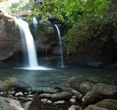 Waterfall in Thailand.