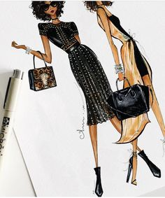 A N U M • T A R I Q @anumt #FashionIllustrations| Be Inspirational ❥|Mz. Manerz: Being well dressed is a beautiful form of confidence, happiness & politeness