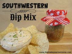 Homemade Gift -  Southwestern Dip Mix - Easy spice blend to put in a jar for Christmas gift giving