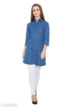 Kurtis & Kurtas Women's Denim Blue Color Long Tunics Fabric: Denim Sleeve Length: Three-Quarter Sleeves Combo of: Single Sizes: S XL XS L M XXL XXXL Country of Origin: India Sizes Available: XS, S, M, L, XL, XXL, XXXL, 4XL, 5XL   Catalog Rating: ★4.2 (467)  Catalog Name: Jivika Ensemble Kurtis CatalogID_1104947 C74-SC1001 Code: 284-6920478-7821