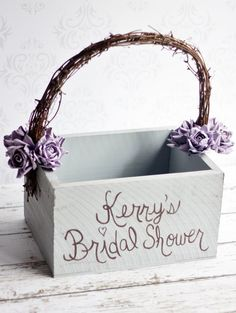 Bridal Shower Card Box Rustic Wedding Shabby Chic Decor Vintage Paper Roses