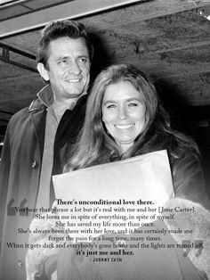 Johnny Cash and June Carter #unconditionalove