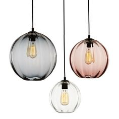 -------MODERNIST ROUND------Handblown round glass with a pronounced exterior ribbing and flat opening.