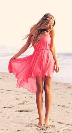 Cute Red High Low Dress for Girls #red #dress www.loveitsomuch.com