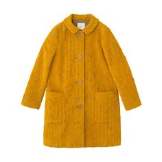 Coat 2011–2012 Autumn Winter Collection Pick Up Sally Scott ❤ liked on Polyvore featuring outerwear, coats, jackets, coats & jackets, tops, yellow coat and sally scott