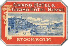 Grand Hotel & Grand Hotel Royal :: Stockholm, #Sweden #Vintage #travel
