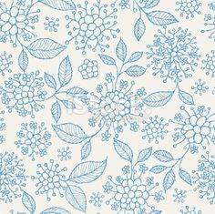 Seamless Floral Pattern Royalty Free Stock Vector Art Illustration