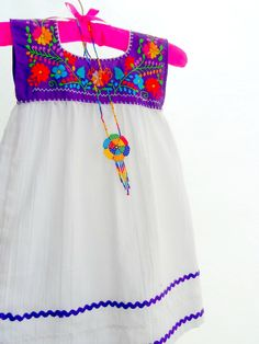 Alina  Mexican Handmade Embroidered Mix Cotton baby Tunic dress on Etsy, £23.92