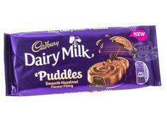 Cadbury Dairy Milk Puddles Hazelnut 90 g Chocolate Brands, I Love Chocolate, Chocolate Lovers, Cadbury World, Baking For Beginners, Cadbury Dairy Milk Chocolate, Chocolates, Food Goals, Dessert Drinks