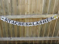 Gender reveal parties are all the rave these days! Dress up the day with this beautiful Staches or Lashes banner. It is masculine meets sassy, but still gender neutral! This listing is for black lettering with gold glitter accents. I can make this banner in any color theme you like. Just make a note in the order and I will make it happen! Check out my Staches or Lashes photo props that I can make in coordinating colors! Your guests will love being able to take snapshots holding up their…