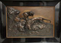 """Bronze Relief W.C. Plassmann, Cöln 15,3 Kg """" LÖWENFAMILIE """"- 19491 –   eBay Alphonse Mucha, Bronze, Art Nouveau, Otto Von Bismarck, Vase, Lion Sculpture, Statue, Ebay, Painting"""