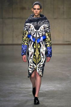 Peter Pilotto A/W 13  - reinventing the puffer jacket