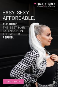Meet The Ruby – your new best friend with all the flexibility you need to style your perfect hair day fast. Whether it's a perfectly undone top knot, a head-turning braid, or a long gorgeous pony, The Ruby will bend, twist, and hold her shape to take your hair game to the next level. Easy, affordable and luxury hair