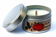 DIY Pumpkin Scented Massage Candle with Printable Labels