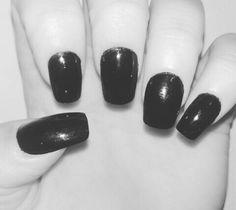 #black #nails #always #dark