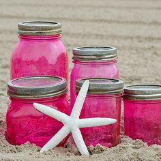 Pink Vintage-Look Mason Jars | Mason Jar Crafts Love