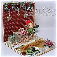 Cards made by Chantal: Pop-up Present card - For you at Christmas Christmas Cards Handmade Kids, Christmas Cards 2017, Christmas Paper Crafts, Merry Christmas Card, Xmas Cards, Greeting Cards Handmade, Holiday Cards, Pop Up Flower Cards, Pop Up Box Cards