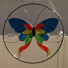 Stained Glass Butterfly/Moth Suncatcher by FoxStainedGlass on Etsy https://www.etsy.com/listing/203169415/stained-glass-butterflymoth-suncatcher