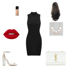 """""""Untitled #6"""" by anidatuholjakovic0307 ❤ liked on Polyvore featuring Schutz, Yves Saint Laurent, Full Tilt, Lime Crime and Maybelline"""