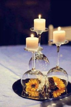 love this idea with my flowers  and crystals and maybe a led candle instead of the real candles