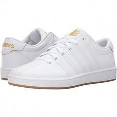 e745f6d79d K-Swiss Court Pro II 50th (50th/White/Gold Leather) Men's Tennis Shoes  ($45) ❤… #tennisoutfit