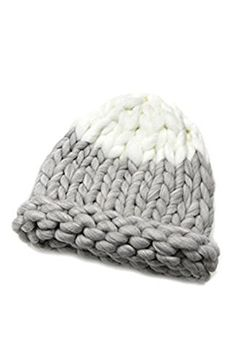 6cb6ea6bd52 Knitting Factory Winter Hand Made Hat Selection Big Yarn Loopy Corn Pointy  Beanie (Gray)