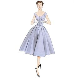 Patron de robe 1954 - Vogue 2960