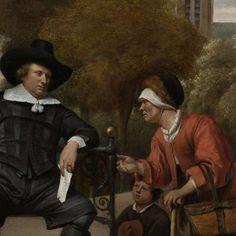 Adolf en Catharina Croeser, bekend als 'De burgemeester van Delft en zijn dochter', Jan Havicksz. Steen, 1655 - Dagelijks leven (schilderijen) - Kunstwerken - Ontdek de collectie - Rijksmuseum