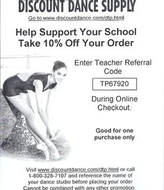 Discount dance coupon code