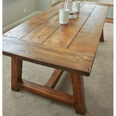 Image Of Rustic Farmhouse Dining Table