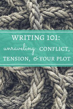 Writing 101 series for beginning writers: Confused about conflict, tension, and plot? Learn what they are, how they relate, and how you can use them to create a page-turning story. Editing Writing, Writing Words, Fiction Writing, Writing Process, Writing Quotes, Writing Advice, Writing Resources, Writing Help, Writing Skills