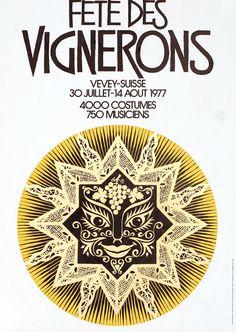 Fete des Vignerons by Monod, Jean | Shop original vintage posters online: www.internationalposter.com