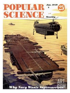 Front cover of Popular Science Magazine: January 1, 1949 Reproduction artistiques