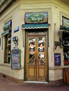 I arrived in Buenos Aires the night before. It was my first time in Buenos Aires, and I had a list of restaurants to. Places Around The World, Around The Worlds, Argentina South America, Shop Facade, Pubs And Restaurants, Cafe Bistro, Lovely Shop, Shop Fronts, Color Of Life